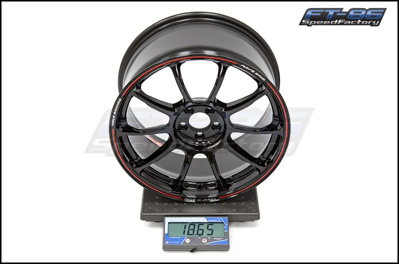 Volk Time Attack ZE40 Black  Red 18x9.5 +42 FT Scale