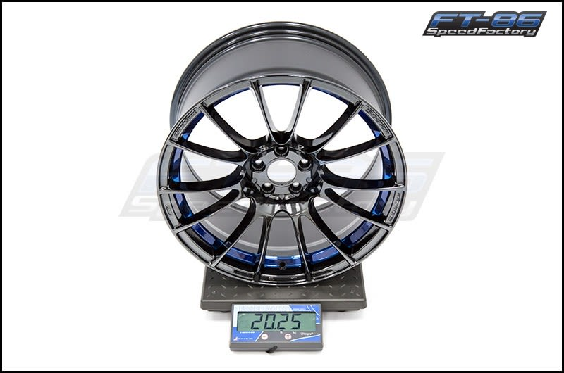 WedsSport SA-72R Blue Light Chrome 18x9.5 +45 R Face FT Scale