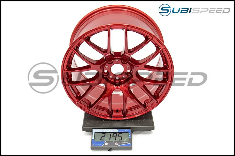 Work Emotion M8R 18x9.5 +38mm Candy Apple Red Subi Scale