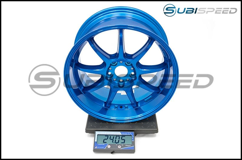 Work Emotion D9R 18x9.5 +38mm Candy Apple Blue Subi Scale