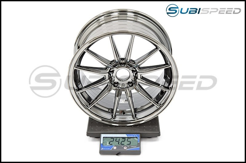 Cosmis Racing Wheels R1 18x9.5 +35mm Black Chome Subi Scale