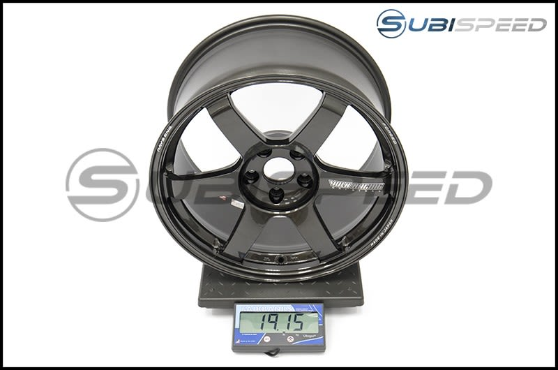 Volk TE37 SAGA Diamond Black 18x9.5 +38 Subi Scale