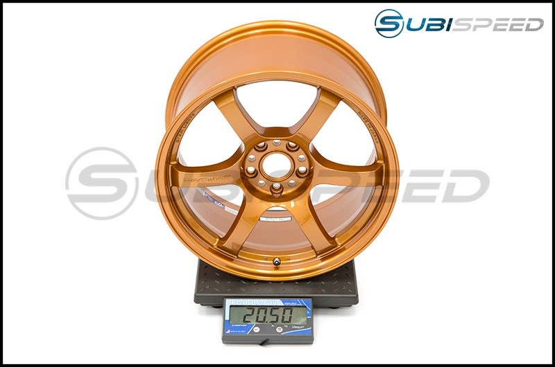 Gram Lights 57DR 18x9.5 +38 METALLIC PALE BROWN Subi Scale