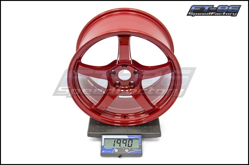 Ray Gram Lights 57CR 18x9.5 +38 Milano Red FT Scale