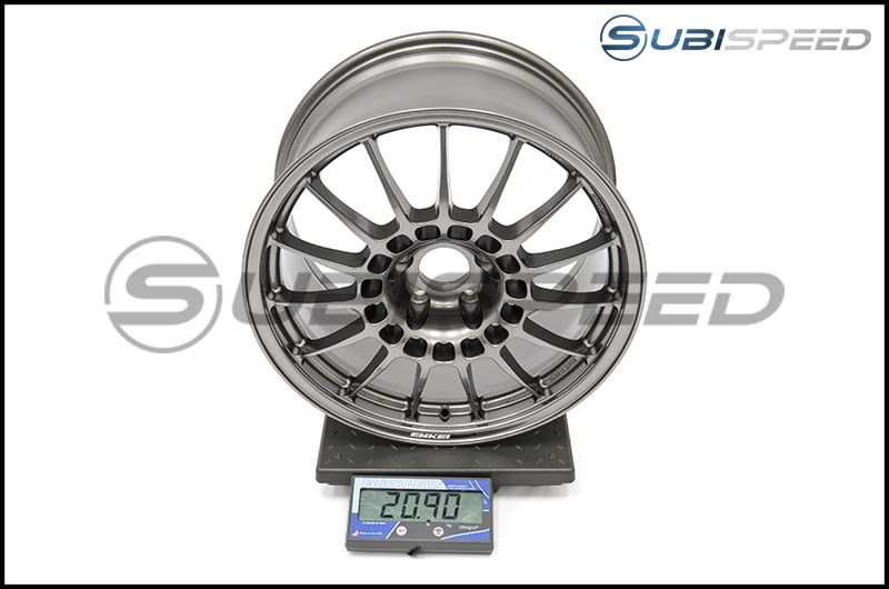 Enkei RCT5 18x9.5 +38mm Dark Silver Wheel Subi Scale