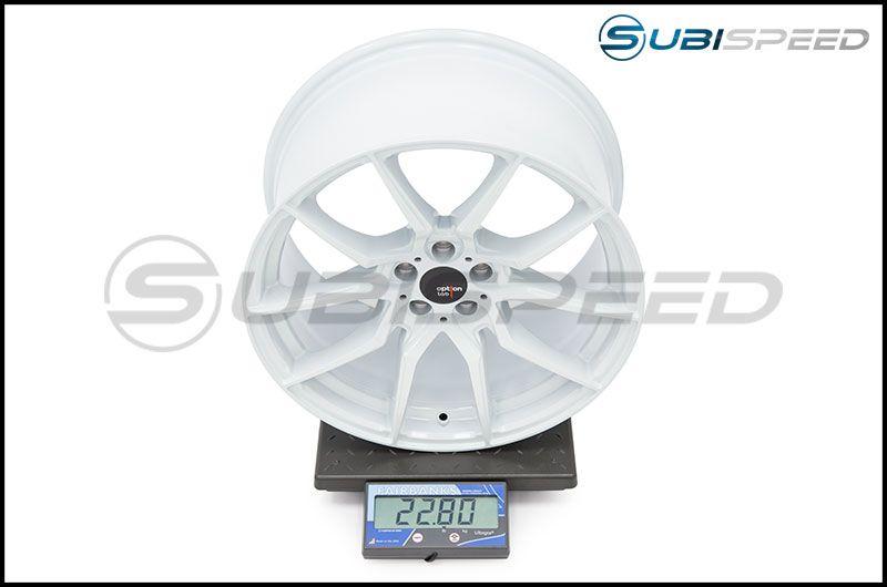 Option Lab Wheels R716 18x9.5 35mm 73.1 Onyx White 16 Subi Scale