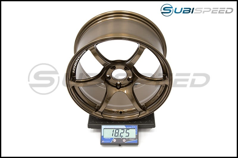 Advan RGIII Umber Bronze 18x9.5 +45 Subi Scale