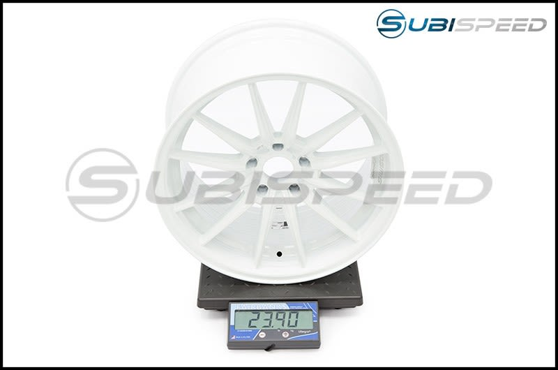Cosmis Racing Wheels R1 18x9.5 +35mm White Subi Scale