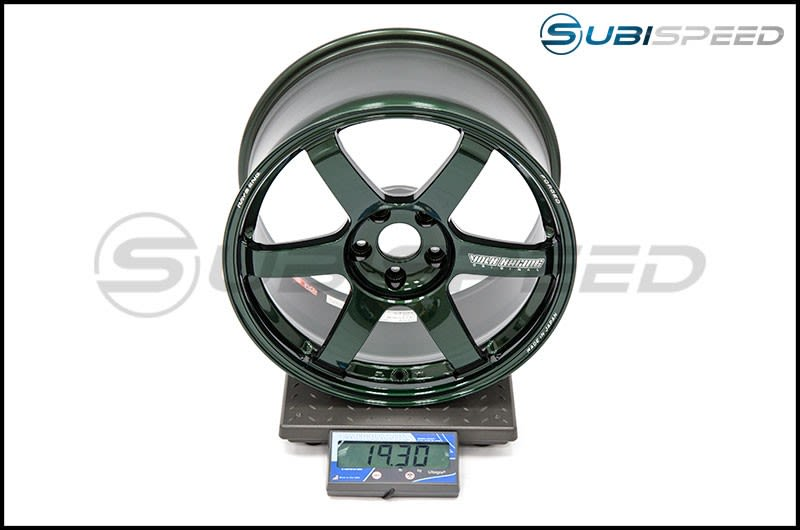 Volk TE37 SAGA Racing Green 18x9.5 +38 Subi Scale