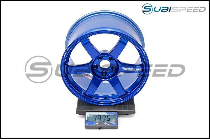Volk TE37 SAGA Hyper Blue 18x10 +41 Subi Scale