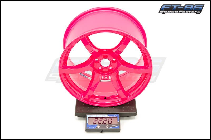 57C6 18X9.5 +40 LUMINOUS PINK FT Scale