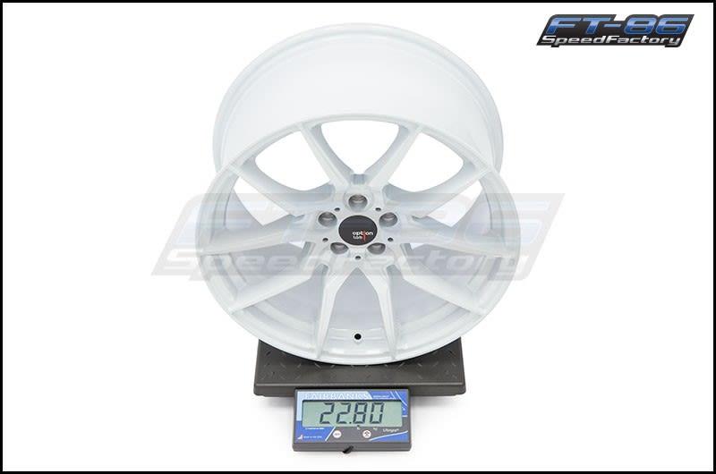 Option Lab Wheels R716 18x9.5 35mm 73.1 Onyx White 16 FT Scale