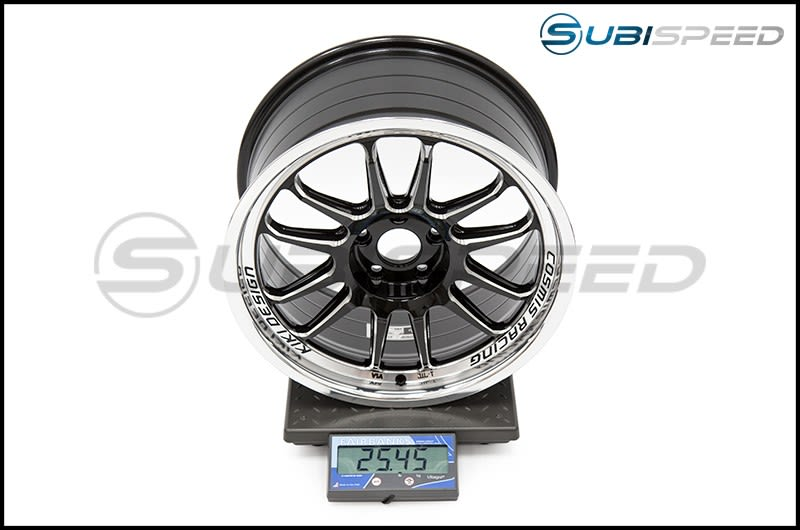Cosmis Racing Wheels XT-206R 18x9 +33mm Black with Machine Lip Subi Scale