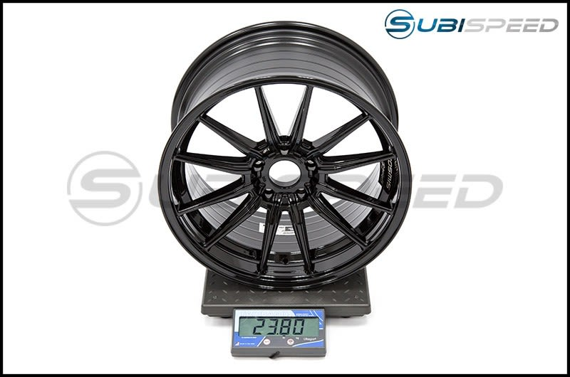 Cosmis Racing Wheels R1 18x9.5 +35mm Gloss Black Subi Scale