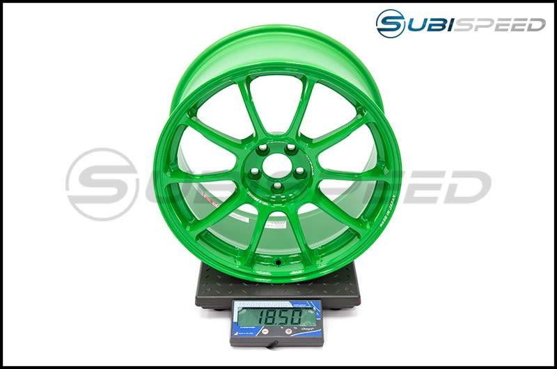 Volk ZE40 Takata Green 18x9.5 +38 Subi Scale