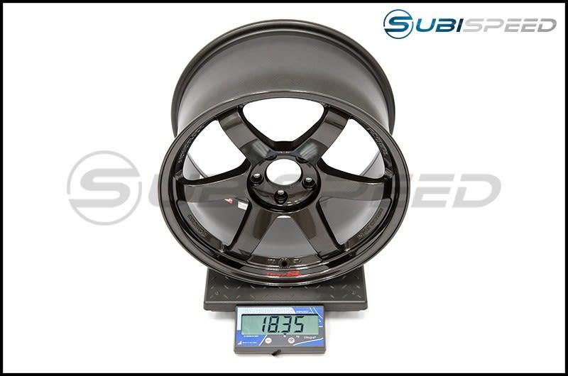 Volk TE37SL Diamond Black 18x10 +40 Subi Scale