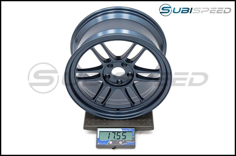 Enkei RPF1 18x9.5 38mm Offset 73mm Bore Matte Blue Wheel Subi Scale