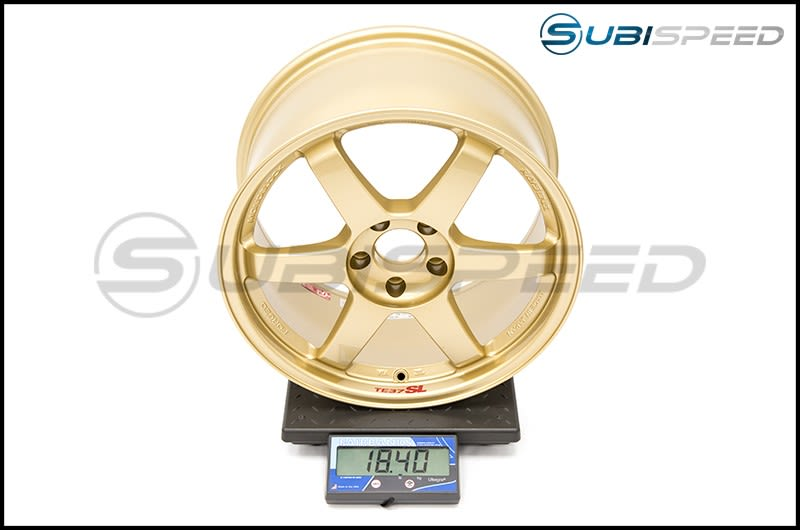Volk TE37SL Gold 18x9.5 +40 Subi Scale