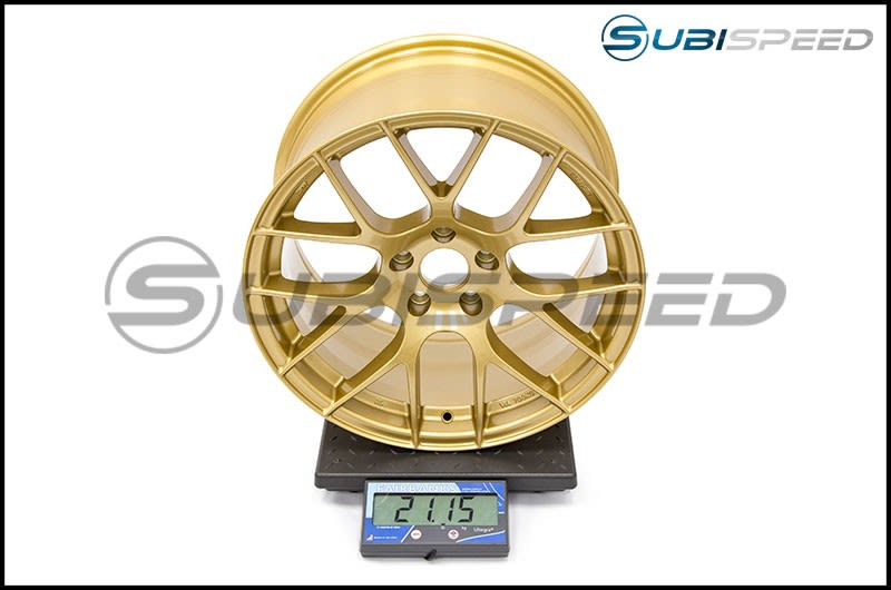 Enkei Raijin 18x9.5 +35mm - Gold Wheel Subi Scale