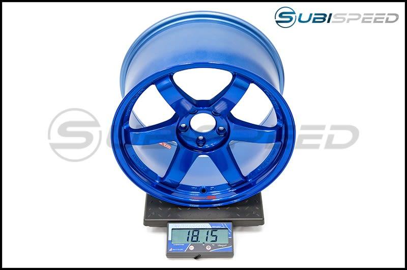 Volk TE37SL Hyper Blue 18x10 +40 Subi Scale