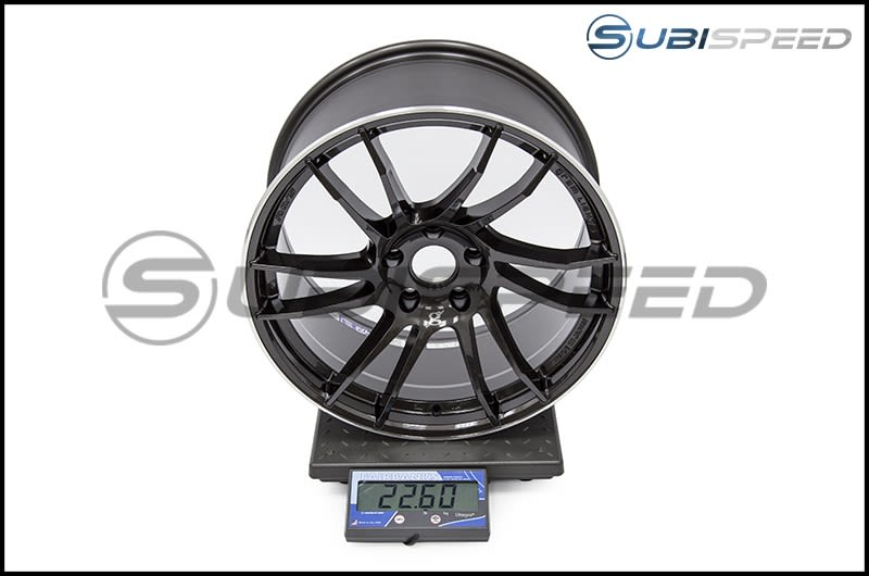 Gram Lights 57XTC 18x9.5 +38mm Super Dark Gunmetal Subi Scale