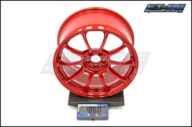 Rays ZE40 Red 18x9.5 +43 FT Scale