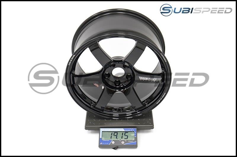 Volk TE37 SAGA Gloss Black 18x9.5 +38 Subi Scale