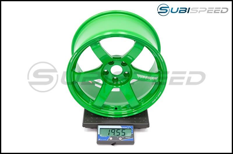 Volk TE37 SAGA Takata Green 18x10 +35mm Subi Scale
