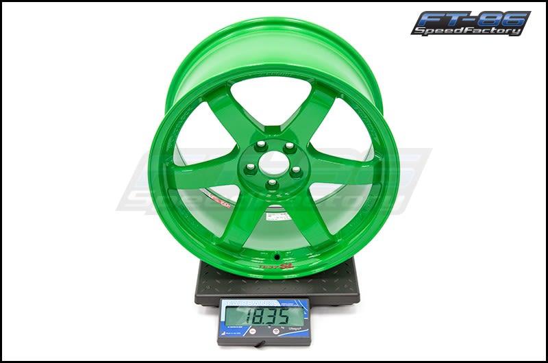 Volk TE37SL Takata Green 18x9.5 +40 FT Scale