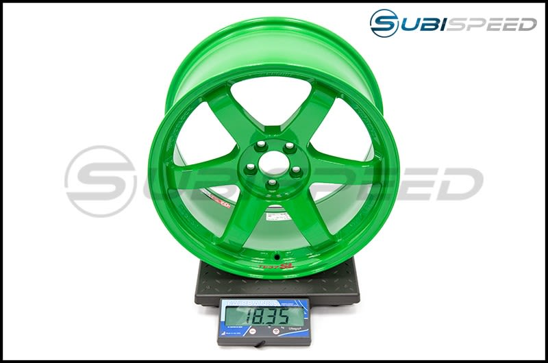 Volk TE37SL Takata Green 18x9.5 +40 Subi Scale