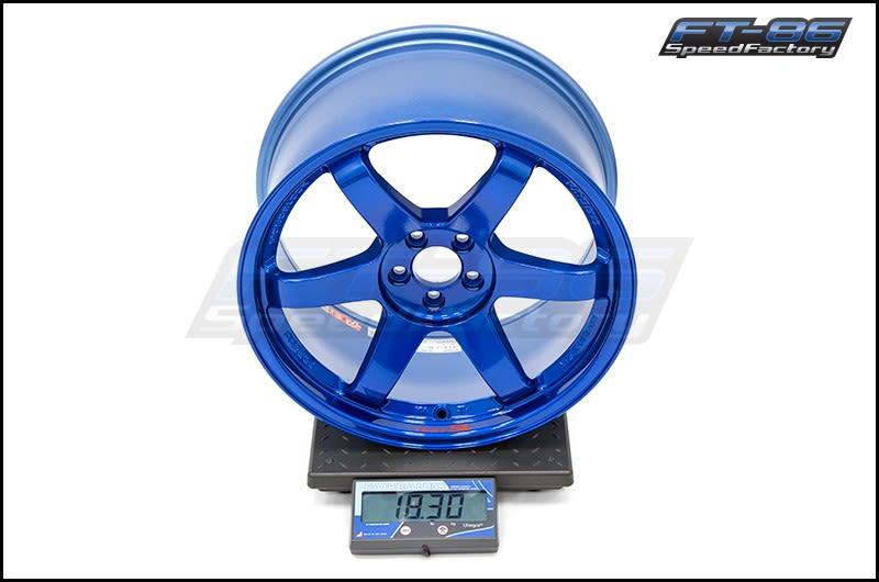 Volk TE37SL Hyper Blue 18x9.5 +40 FT Scale