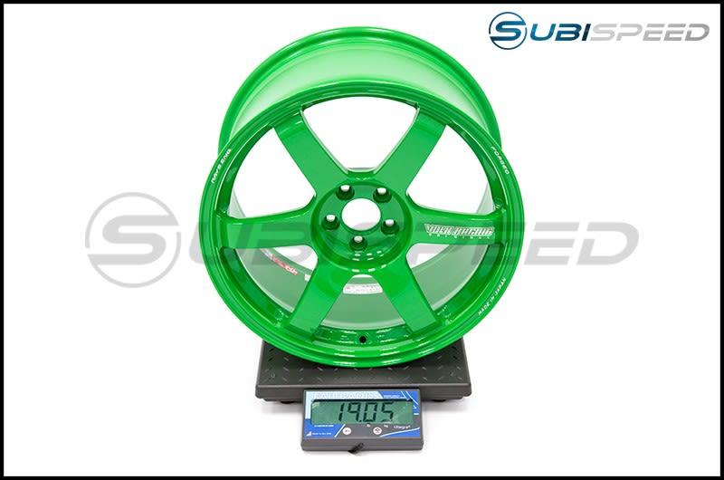 Volk TE37 SAGA Takata Green 18x9.5 +38mm Subi Scale