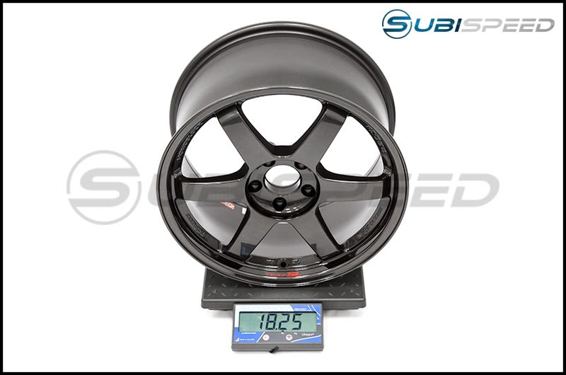 Volk TE37SL Diamond Black 18x9.5 +40 Subi Scale