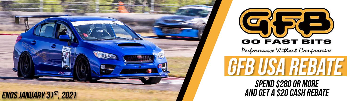 Get a $20 rebate after spending $300 on GFB's performance parts & accessories!