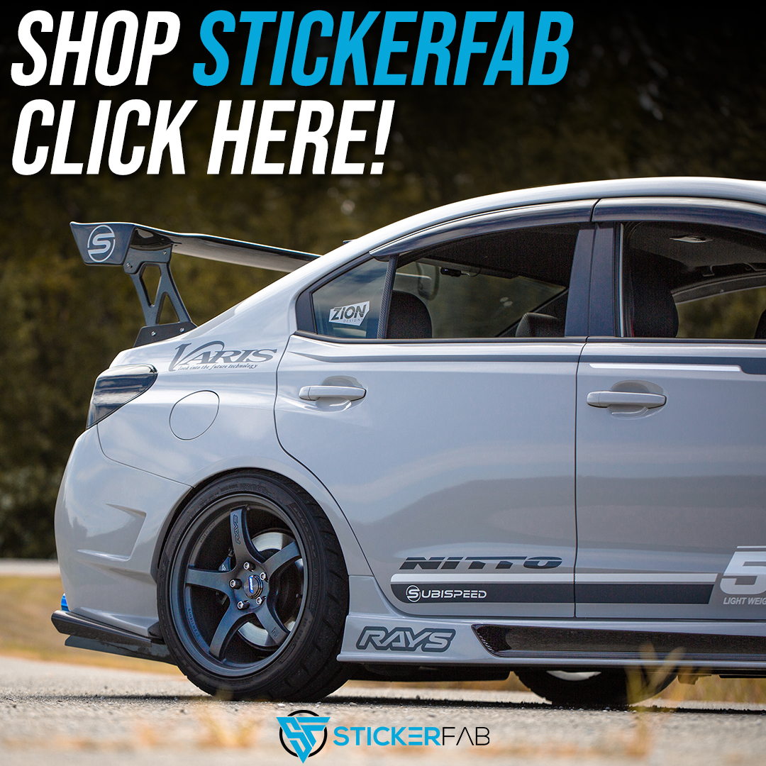 Sticker Fab vinyls and overlays for your 2015-2020 Subaru WRX, STI, 2013-2020 BRZ, 14+ Forester, and more!