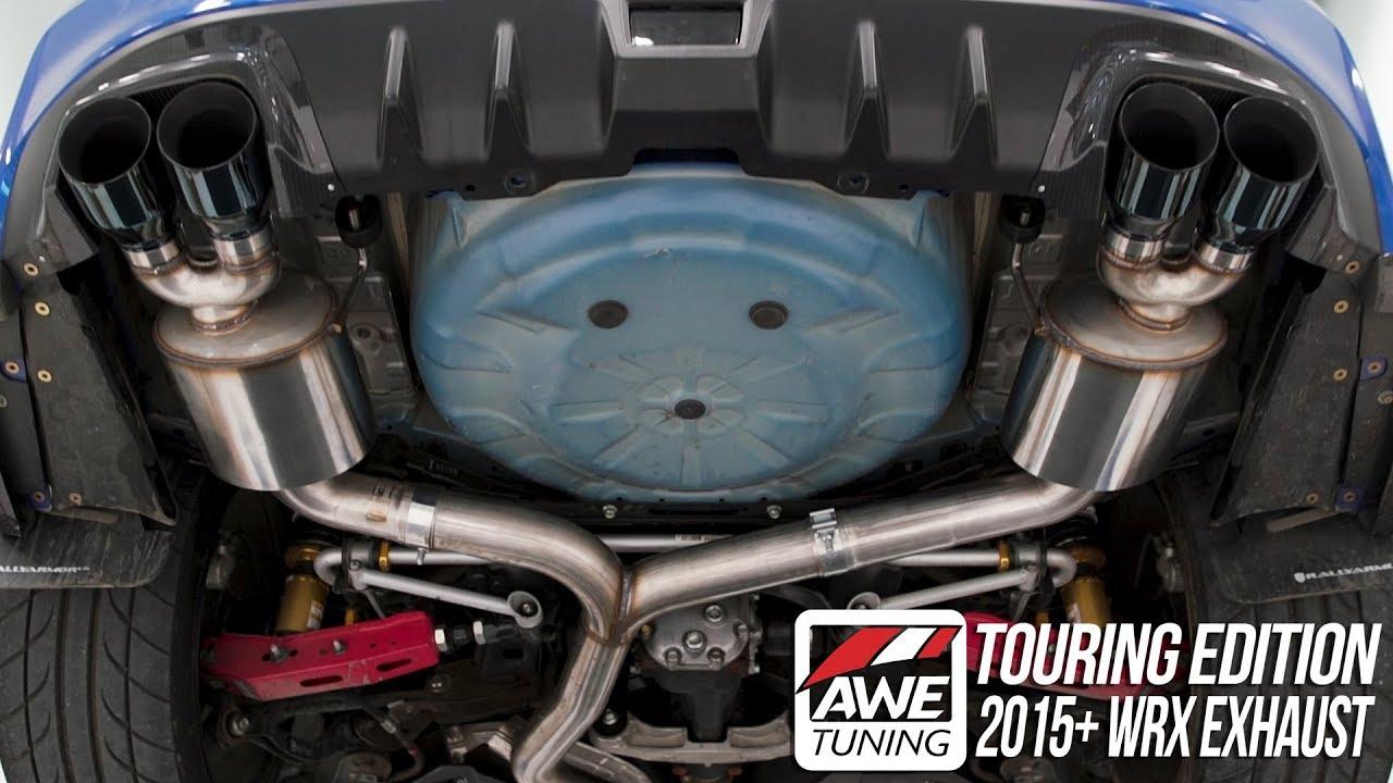 MBRP Race Quad Tip Exhaust - 2015+ STI