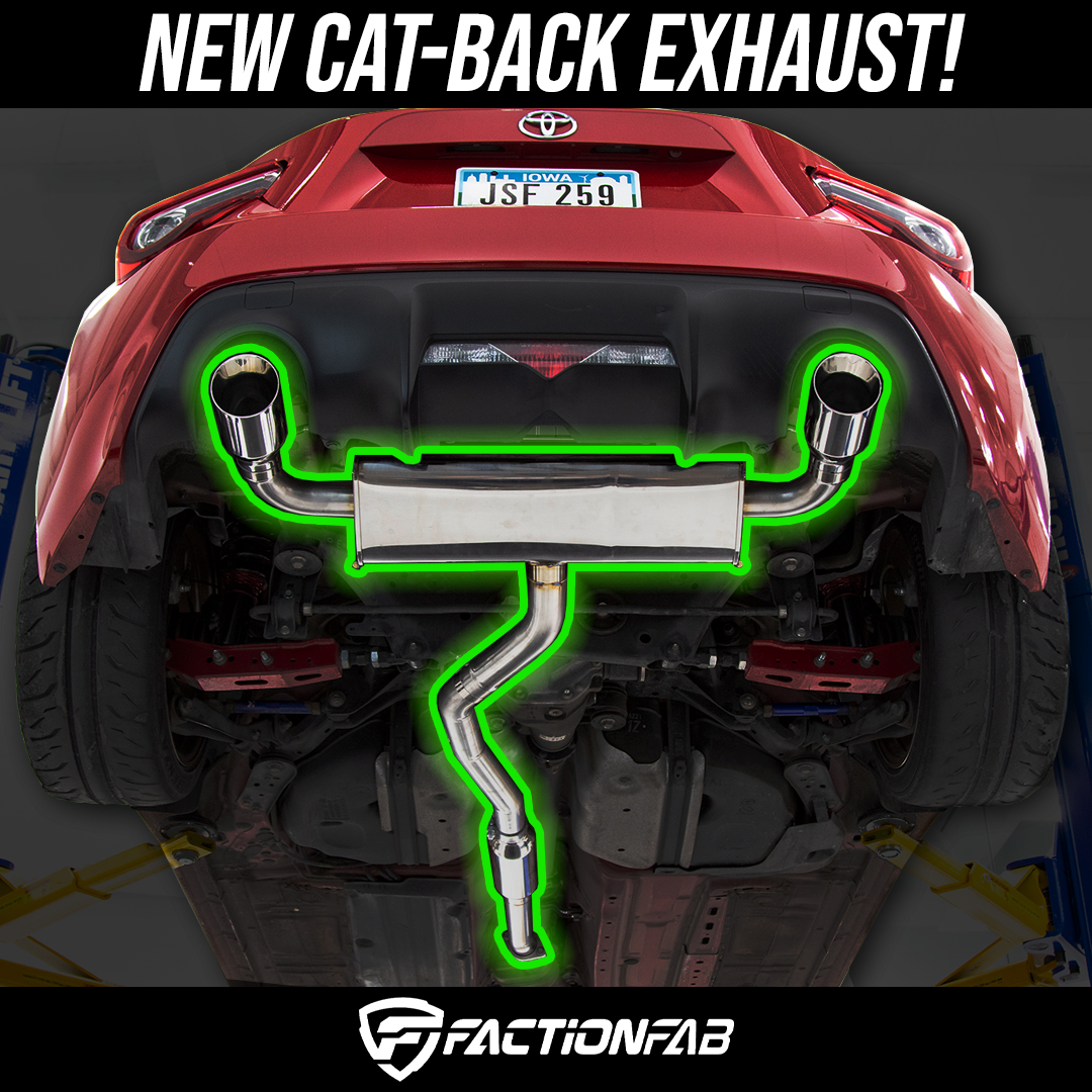 New FactionFab catback exhaust for Subaru BRZ / Scion Fr-S / Toyota 86 here at FTspeed