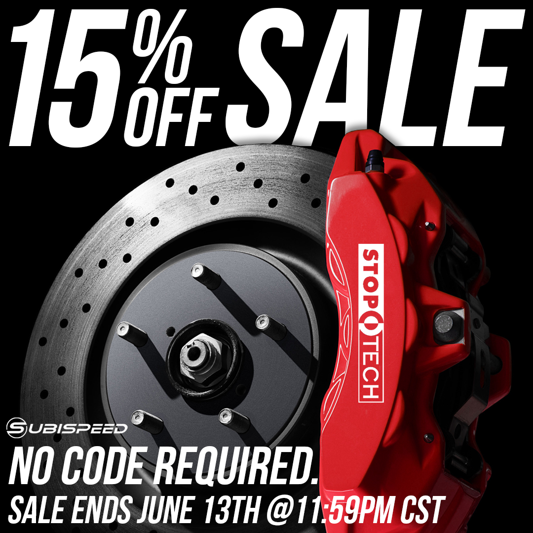 Save 15% off of StopTech aftermarket parts and accessories until June 13th