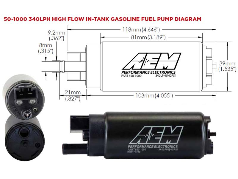 AEM 50-1000 Universal Fuel Pump