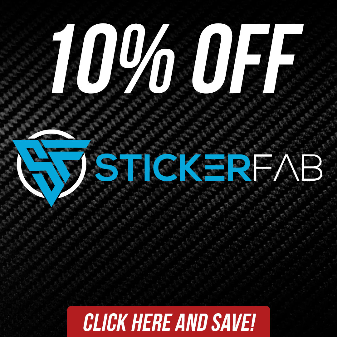 Save 10% off sticker fab aftermarket parts and accessories until September 7th!