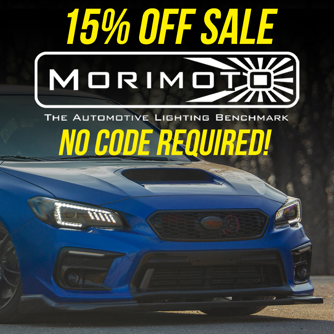 Save 10% off Morimoto aftermarket parts and accessories until September 7th!