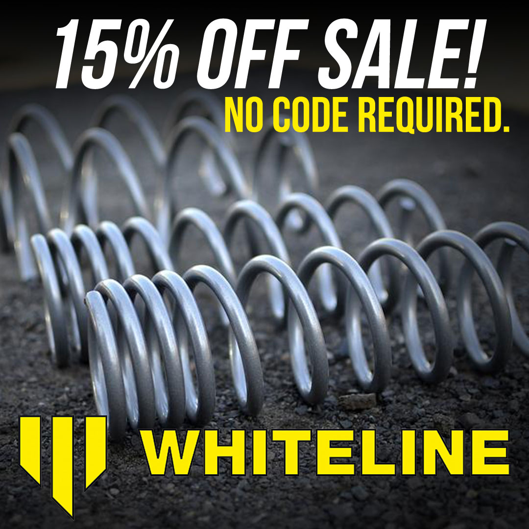 Save 10% off whiteline aftermarket parts and accessories until September 7th!