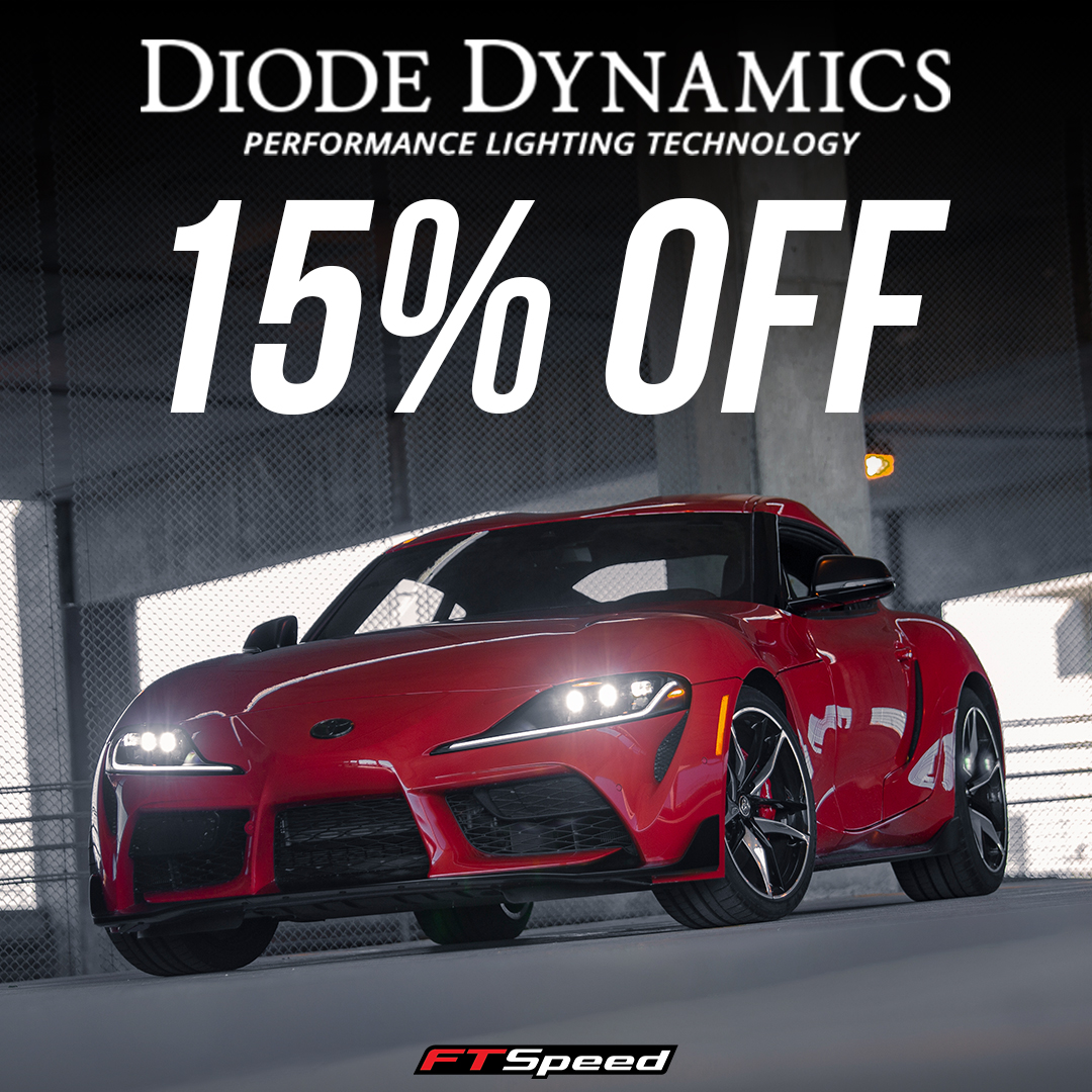 Save 15% off Diode Dyanmics aftermarket parts and accessories until September 7th!