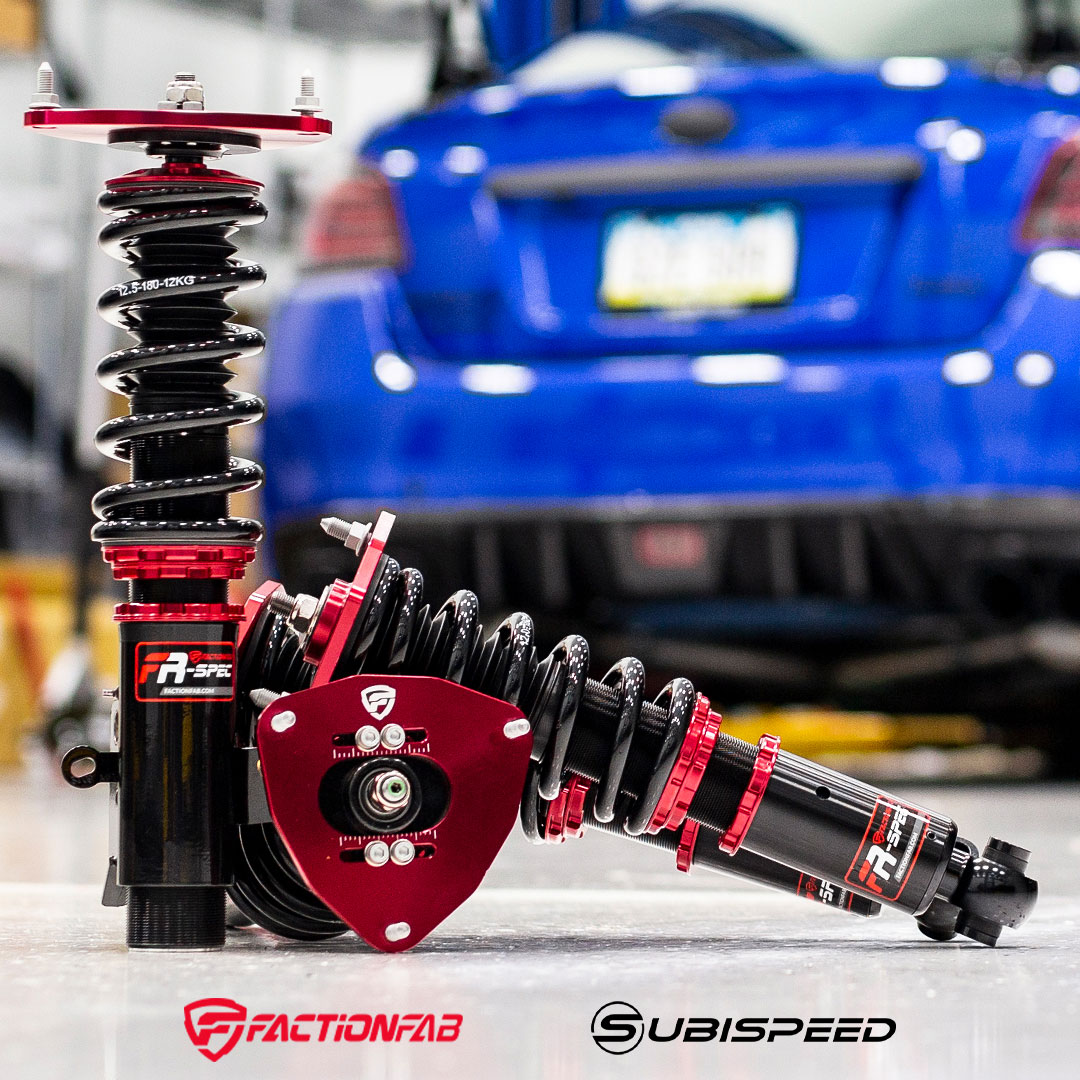 FactionFab FR-Spec Coilovers for the 2015-2021 Subaru WRX / STI / and BRZ